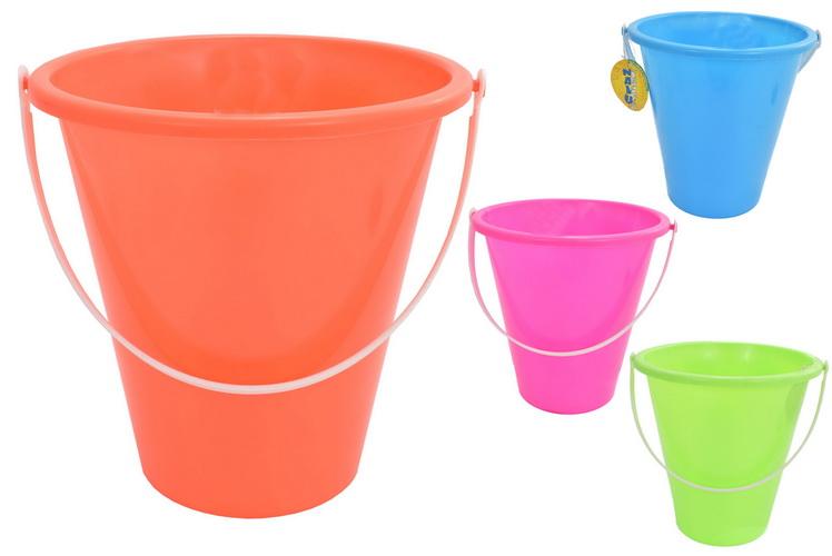"22.5cm/9"" Round Neon Colour Bucket - Assorted Colours"