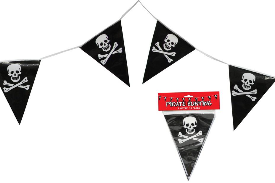 5m Triangular Pirate Bunting - 15 Flags
