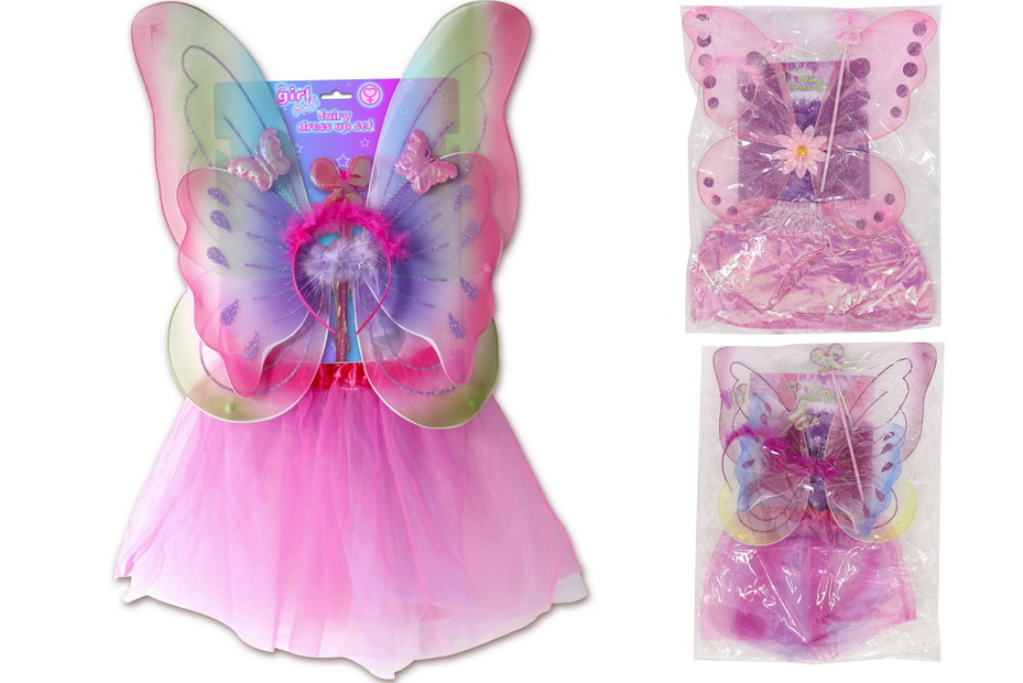"""4pc Childs Fairy Dress Up Set - 4 Asst """"Its Girl Stuff"""""""
