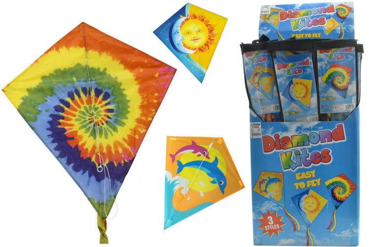60cm x 70cm Nylon Diamond Kite In Display Box
