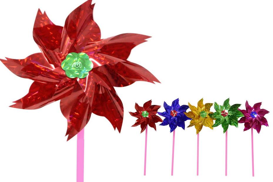 19cm Foil Windmill - 5 Assorted Metallic Colours
