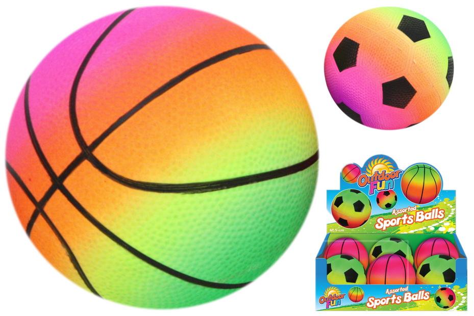 """5"""" Pvc Fluorescent Inflated Sports Ball (2 Asst) Dbx"""