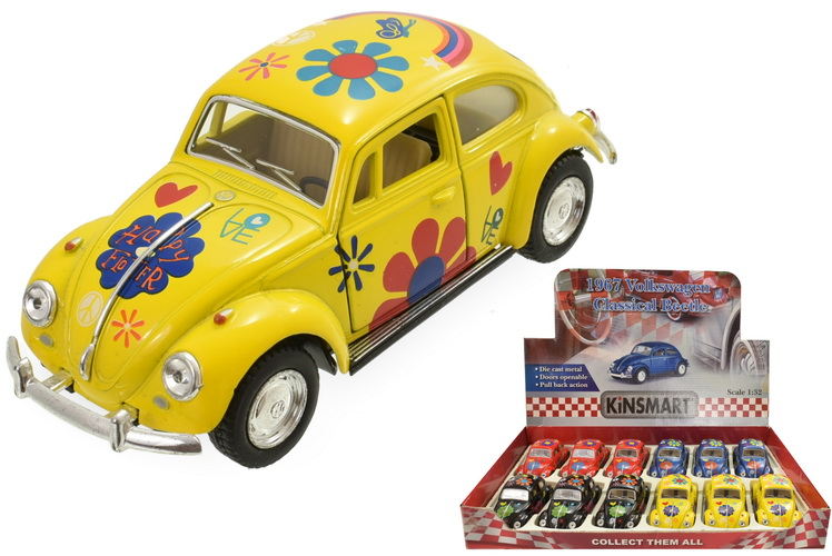 1:32sc 1967 Vw Classical Beetle With Tampo Print
