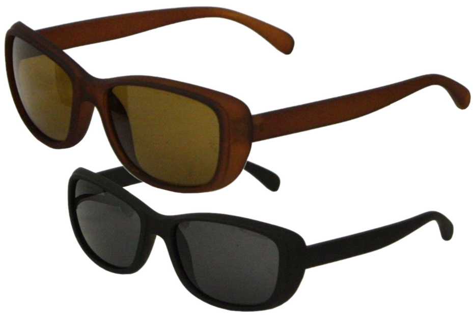 Adult Rubberised Frame Sunglasses - 2 Assorted