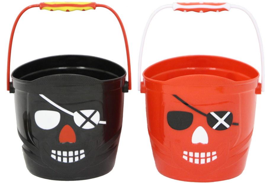"5.5""/14cm Pirate Bucket - Red & Black"