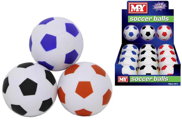 "4"" Pu Footballs In Display Box - ""M.Y"""