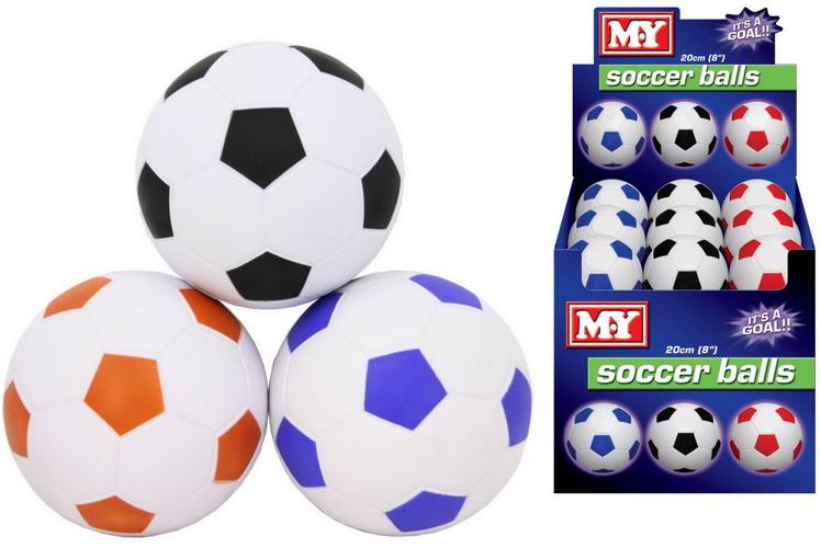 "8"" Pu Footballs In Display Box - ""M.Y"""