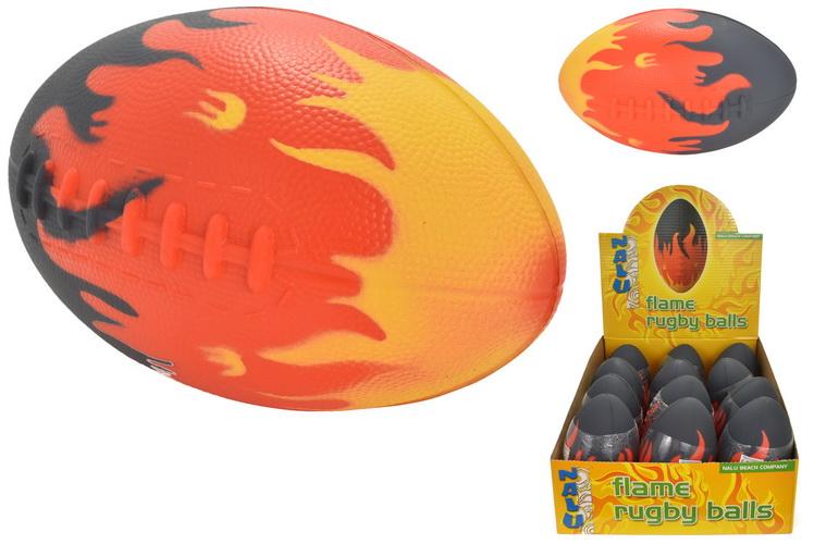 "8"" Pu Flame Rugby Ball In Display Box - ""Nalu"""