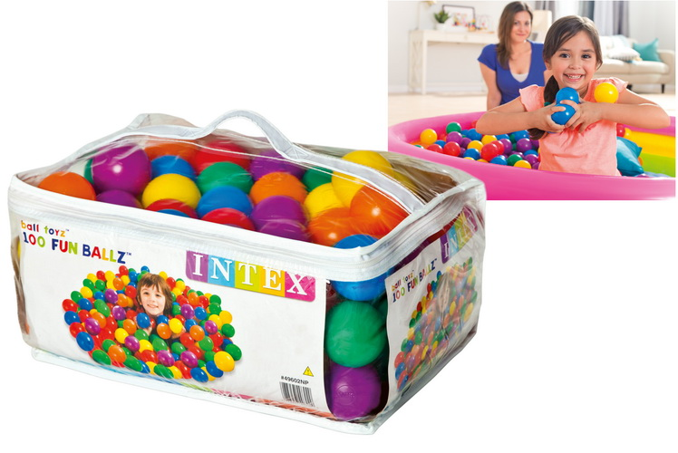 """100pc 2.5"""" Fun Ballz In Carry Bag - Assorted Colours"""
