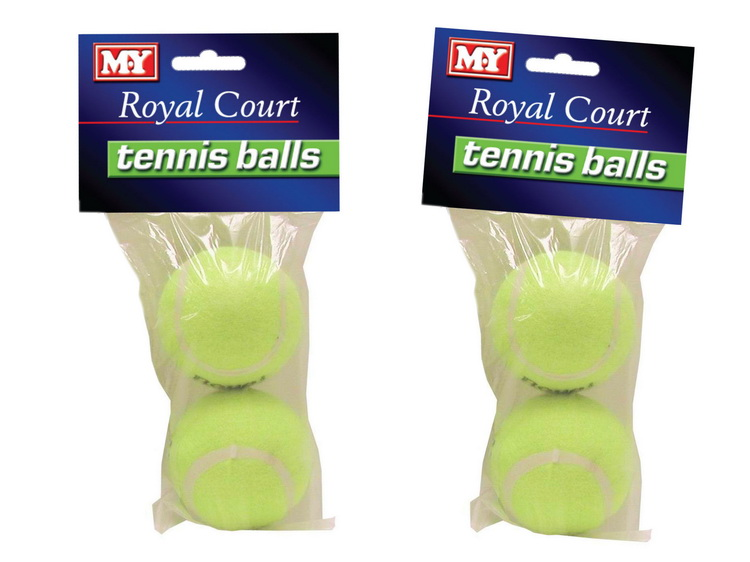 """Royal Court 2 Pack Tennis Balls In Polybag Header """"M.Y"""""""