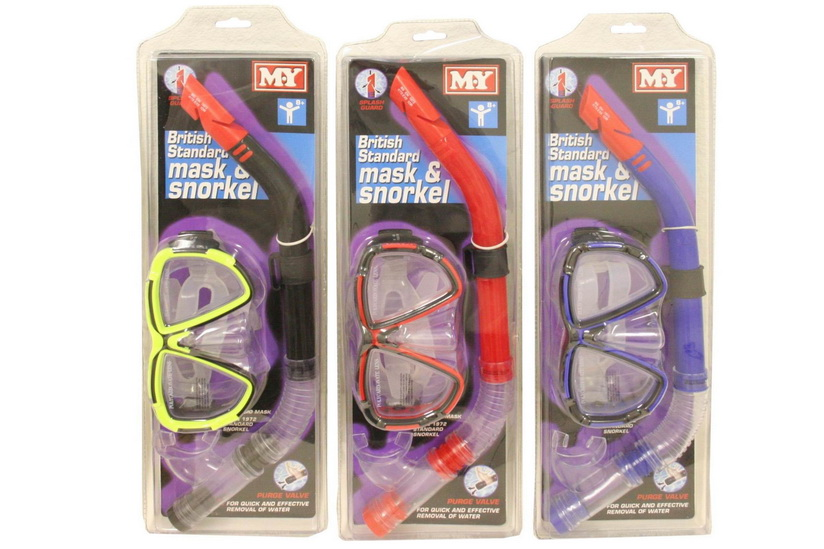 """M.Y"" Bs Mask & Snorkel Set With Purge Valve"
