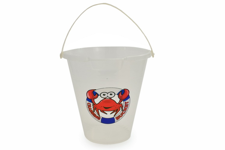 "9"" Transparent Crab Bucket With Print"