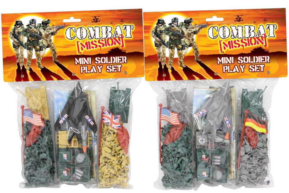 Mini Soldiers Playset Pvc Bag Header - Combat Mission