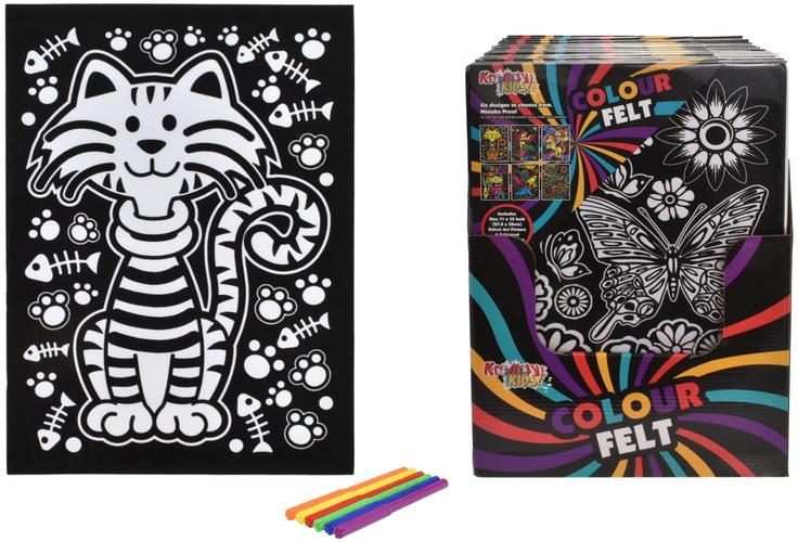 "11"" x 15"" Colour Felt Set In Display Box"