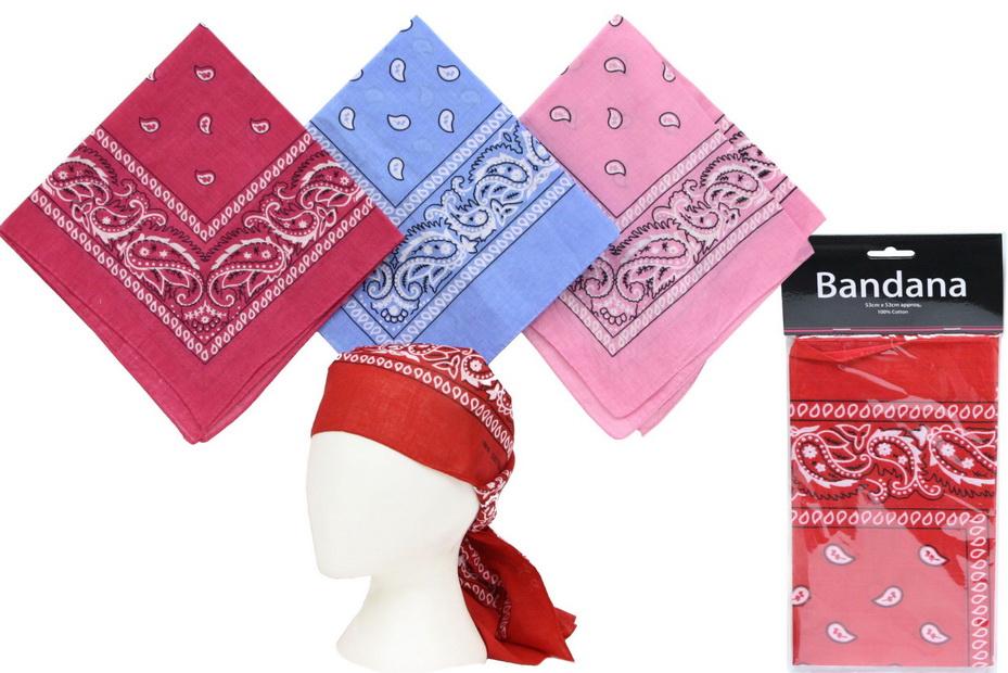 Cotton Bandana - 4 Assorted Colours