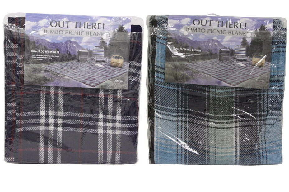 """Jumbo Picnic Blanket - 3m x 2.2m - """"Out There"""""""