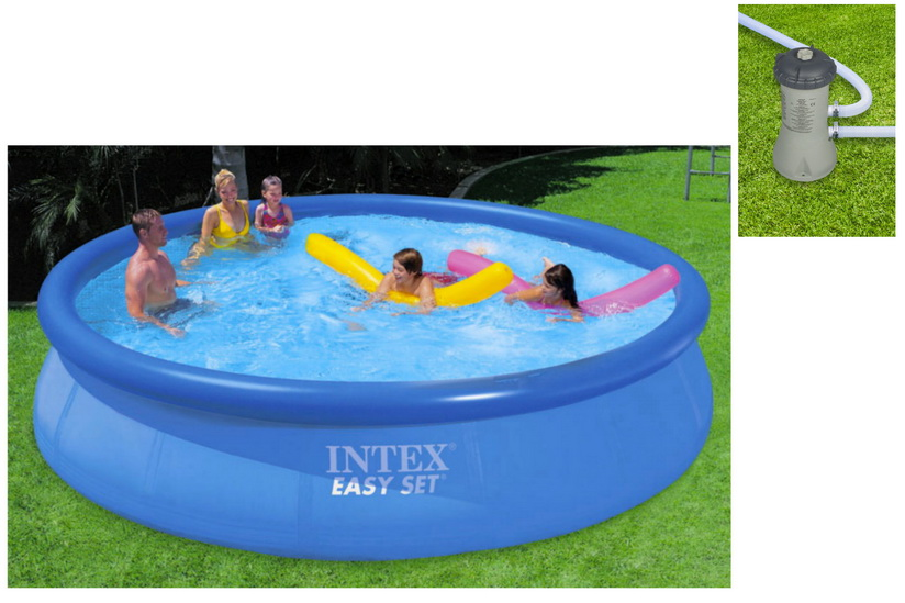 """15' x 36"""" Easy Set Pool With Filter Pump In Shelf Box"""