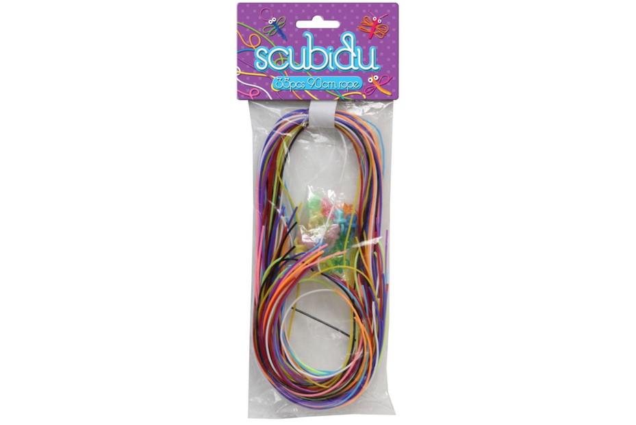 Scubidu - 35pc 90cm Rope 10 Asstd Colours 20pc Dummie