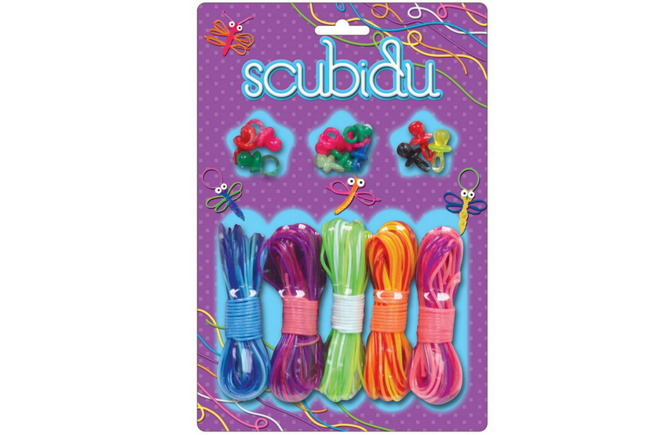 Scubidu - 5 Bundles Of Rope 12 Dummies - Blister Carded