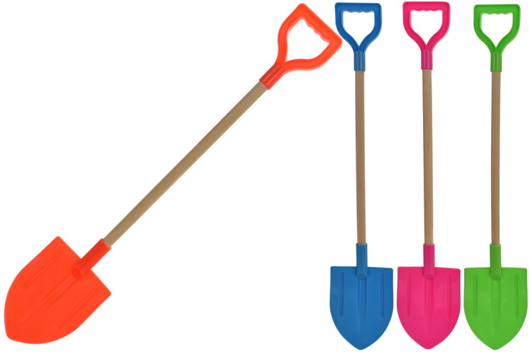 "72cm - 29"" Wood Handle Shield Spade 4 Assorted Colours"