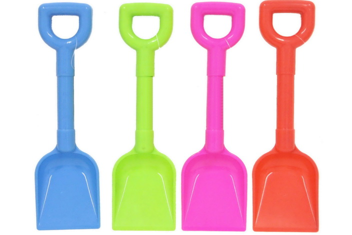 "10"" Plastic ""Scoop"" Spade 4 Assorted Colours"