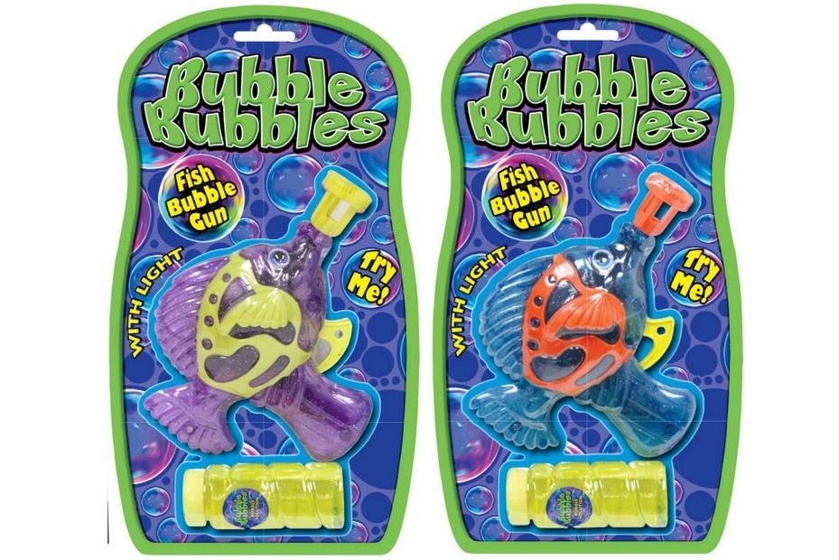 Fish Shape Friction Bubble Gun With Light - Bubbles