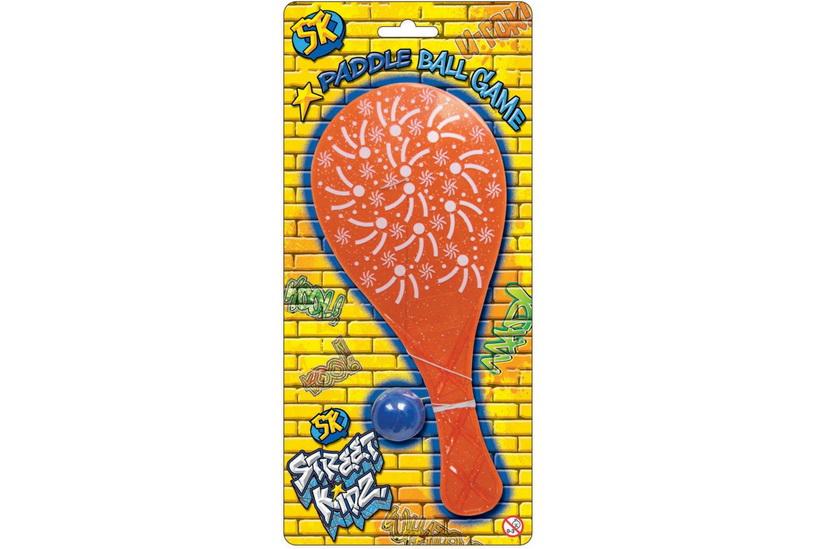 Paddle Ball Game On Blistercard - Street Kidz