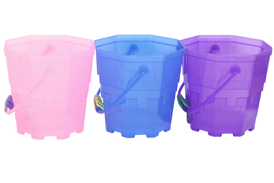 """18.5cm/7.2"""" Octagonal Frosted Transparent Bucket"""