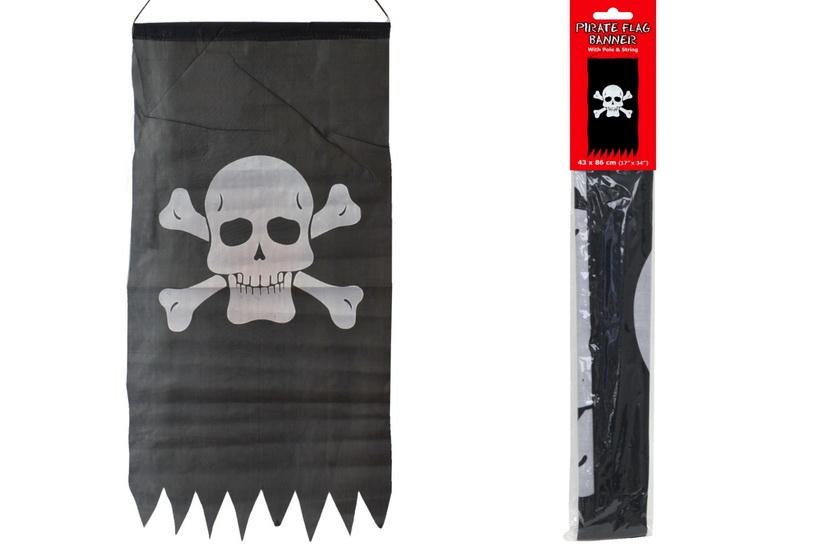 "Pirate Flag Banner 17"" x 34"""