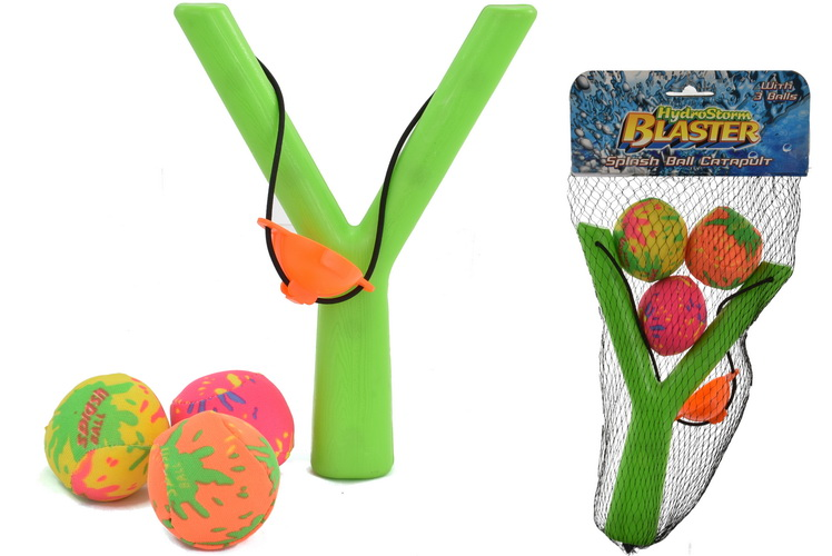 "Splashball Catapult With 3 Balls ""Hydrostorm"""