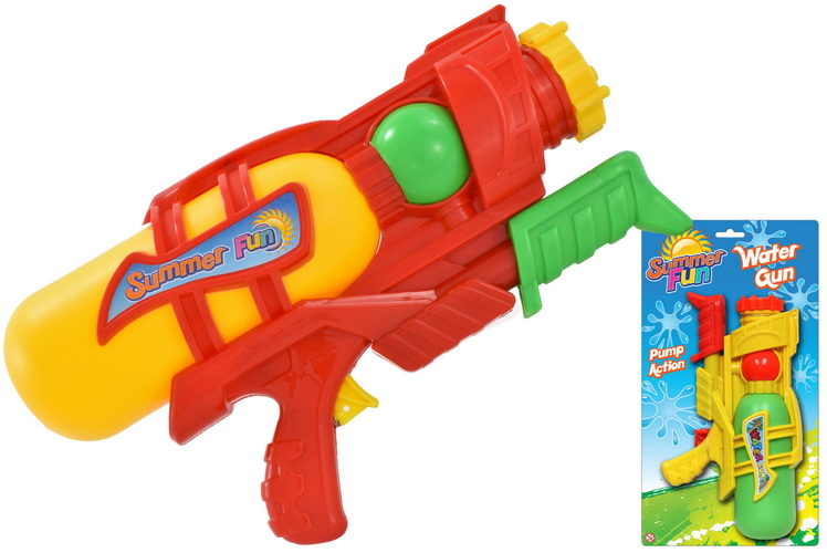 28cm Stubby Air Pressure Water Gun On Tie Card