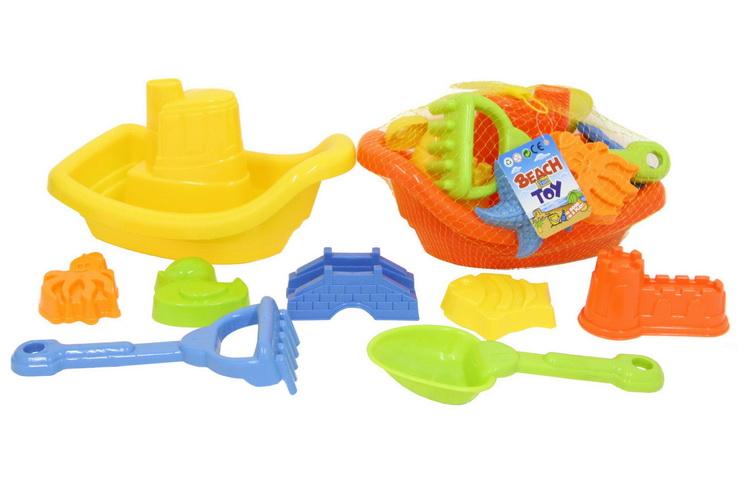 """8pc Plastic Boat Set In Net Bag """"Nalu"""""""