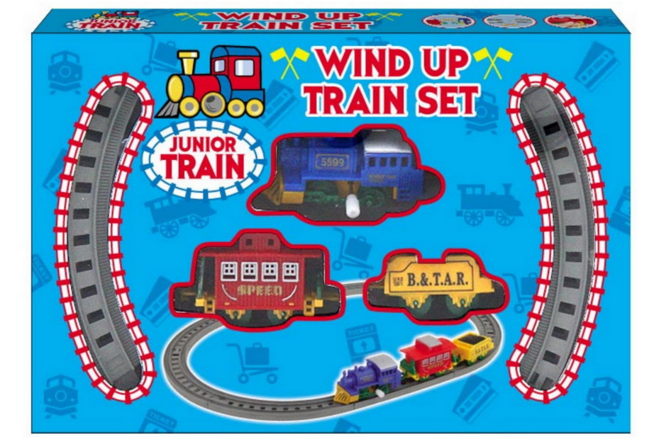 8pc Wind Up Plastic Train Set - Wbx/Pdq