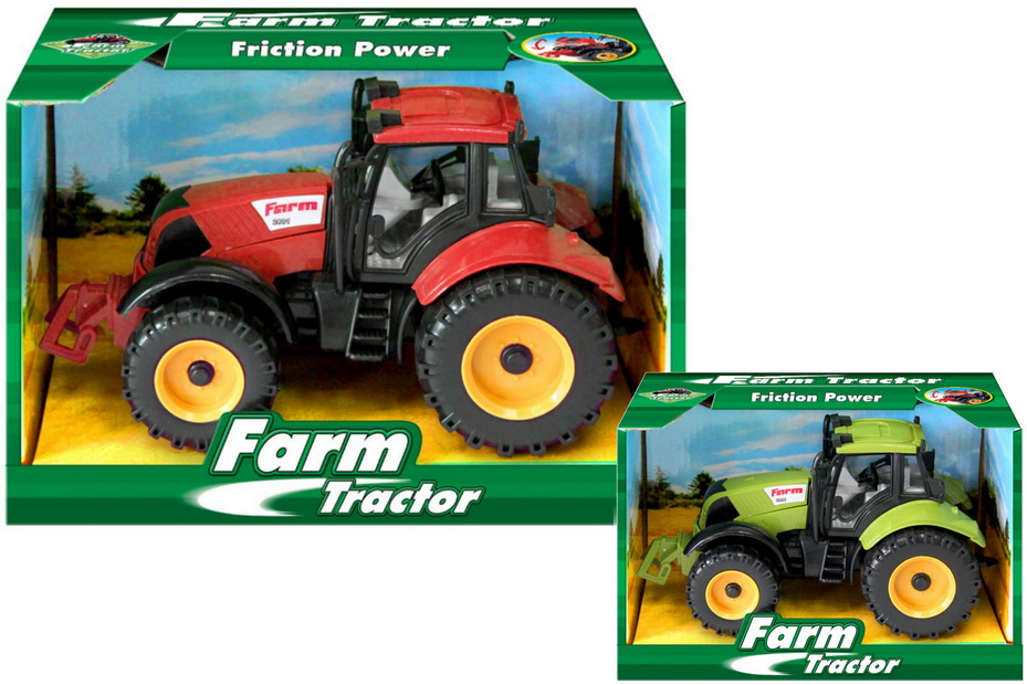 Plastic Friction Farm Tractor In Open Touch Box