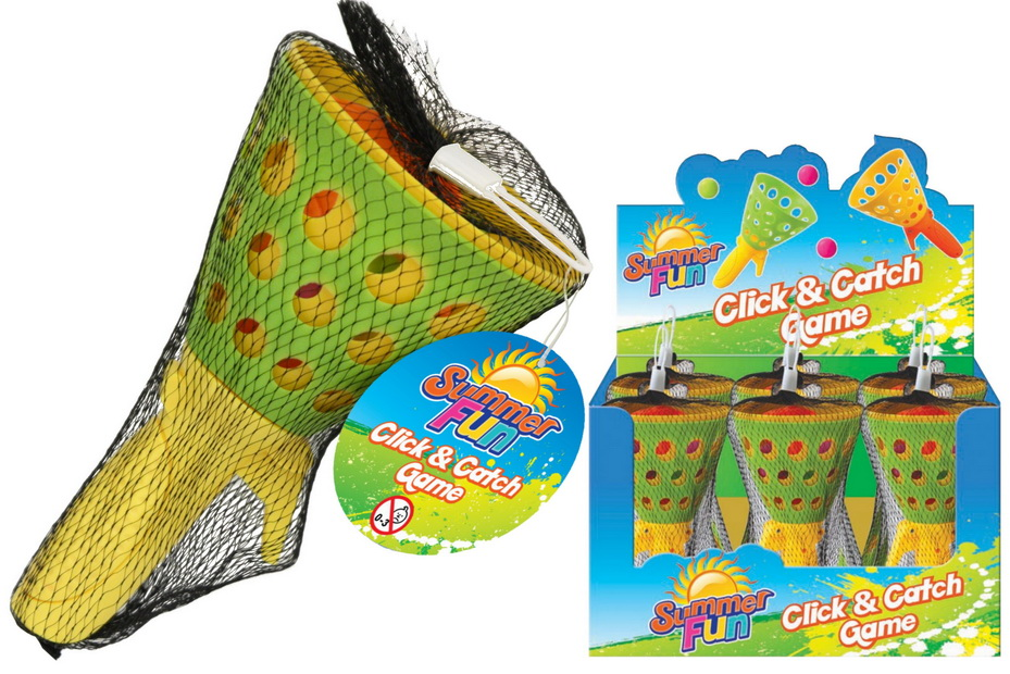Click & Catch Game Net Bag In Display Box - Summer Fun