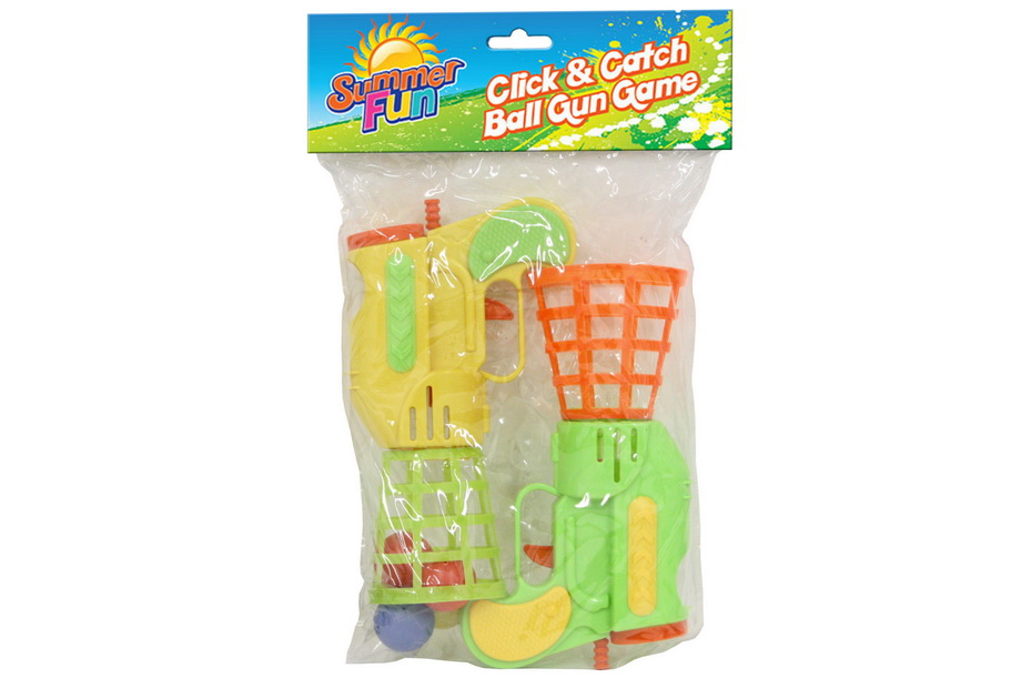 Click & Catch Ball Gun Game Pvc Bag Header - Summer Fun