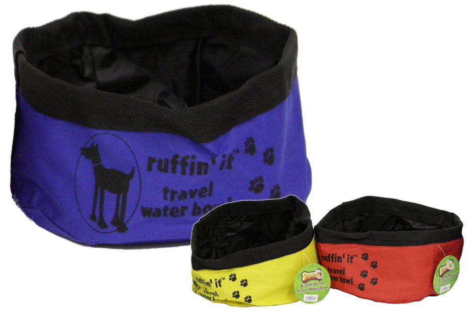 """8"""" Fold Up Pet Travel Water Bowl (3 Assorted Colours)"""