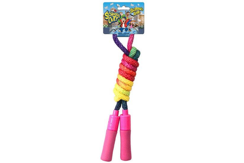 2.1m/10mm Multi Colour Skipping Rope With Foam Handles