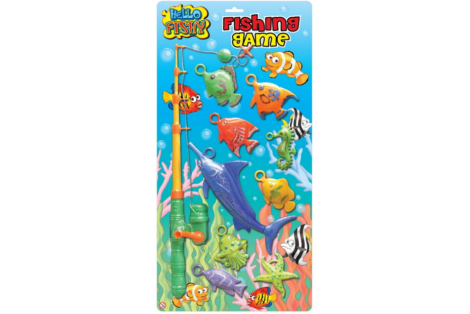 "Fishing Game On Blistercard ""Hello Fishy"""
