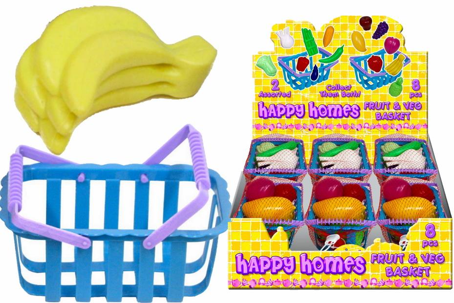 """Fruit & Veg Basket In Display Box """"Happy Homes"""""""