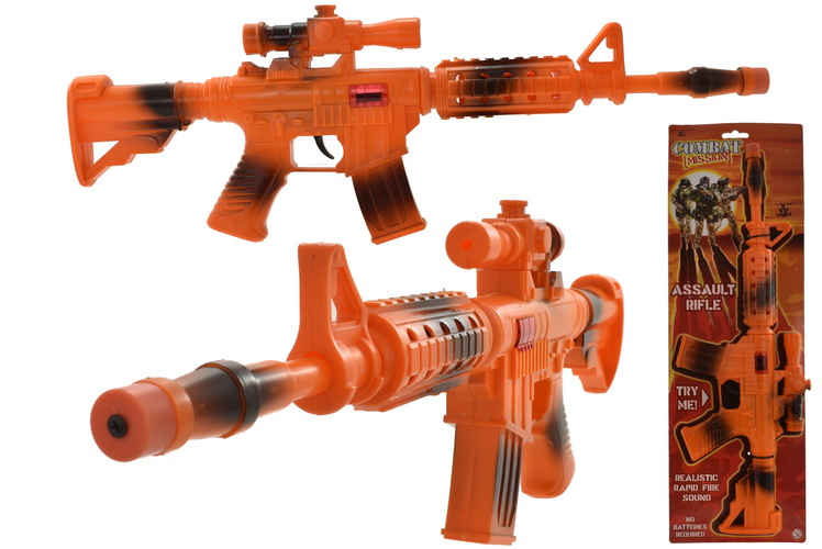"""Friction Assault Rifle With Moving Barrel """"Combat Missi"""