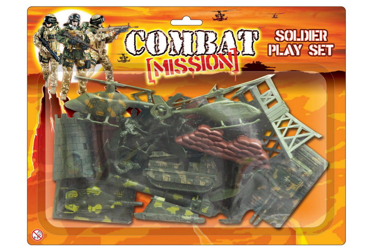 "Army Soldier Play Set On Blistercard ""Combat Mission"""