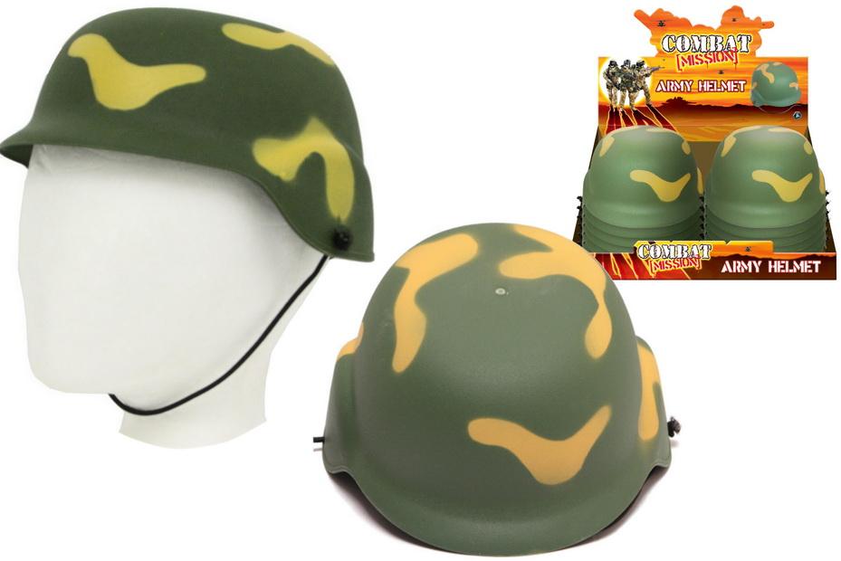 "Army Helmet In Display Box ""Combat Mission"""