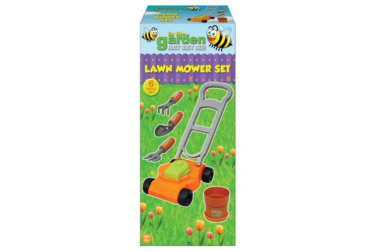 "Lawn Mower Set In Colour Box ""Busy Bee"""