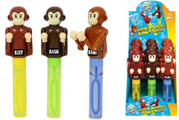 Boxing Monkeys Bubble Stick In Pdq