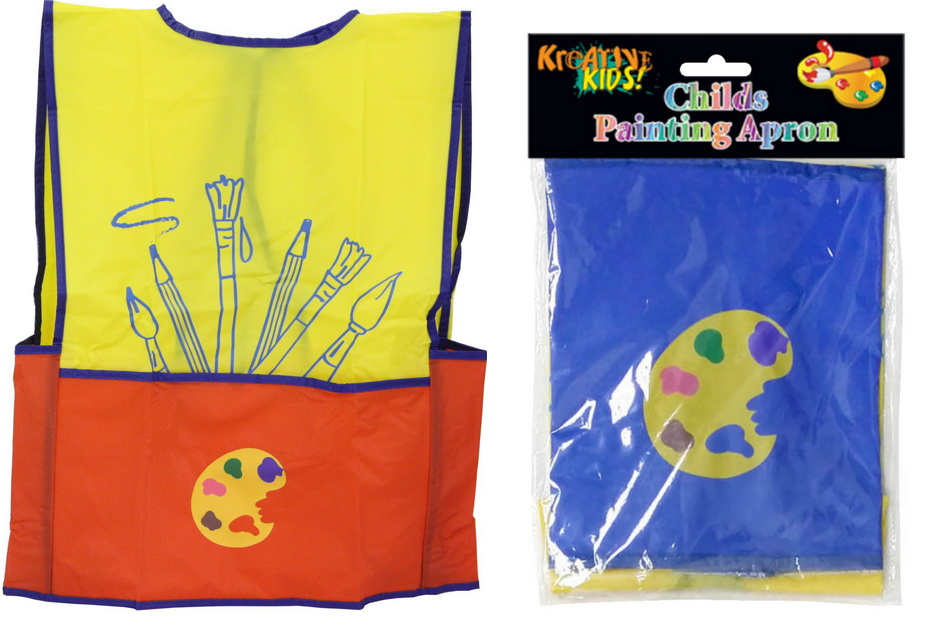 Childs Painting Apron - 2 Assorted Colours