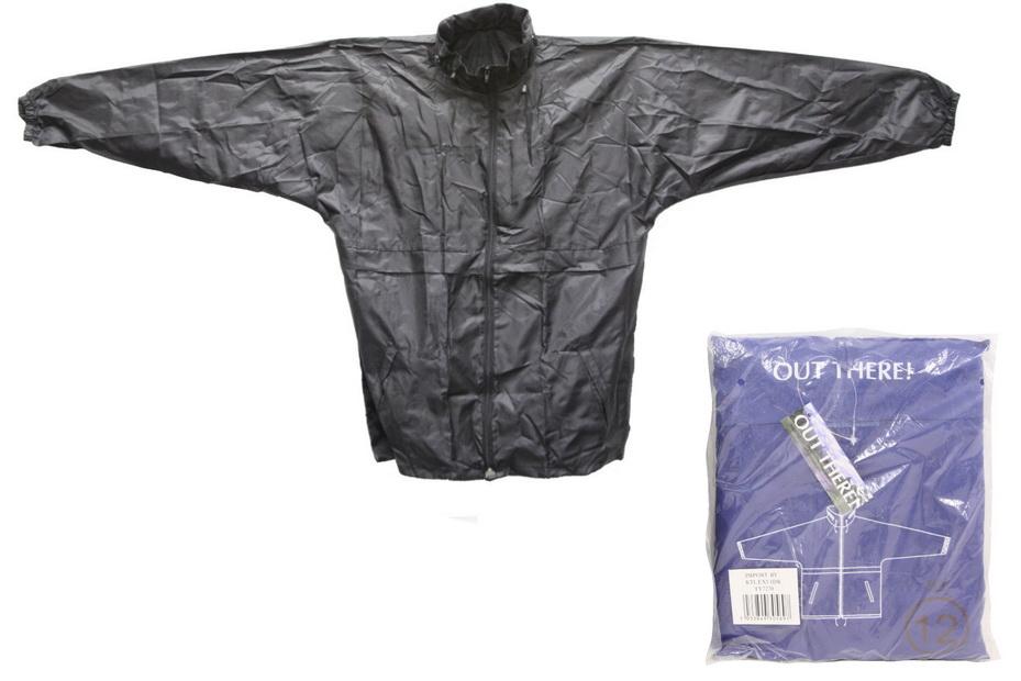 Childs Raincoat(Zipneck&Hood)+Seperate Pouch Asst Sizes