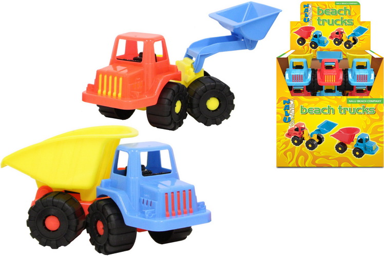 "Plastic Trucks (2 Assorted) In Display Box ""Nalu"""