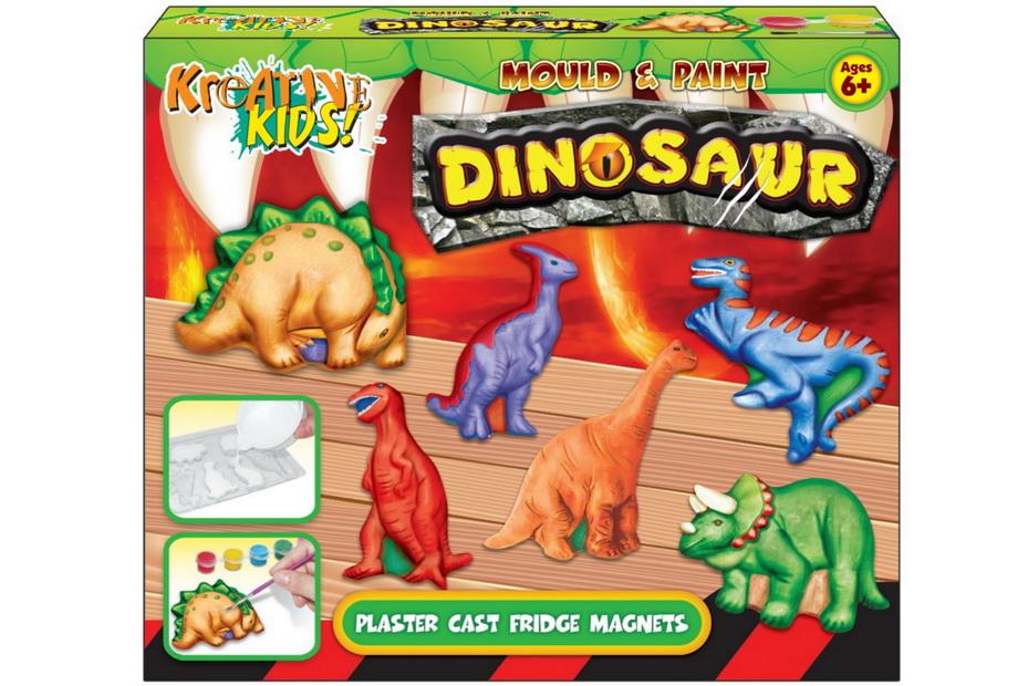 Dinosaur Mould Fridge Magnet In Colour Box