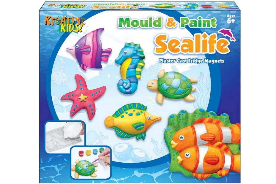 Sea Life Mould Fridge Magnet In Colour Box